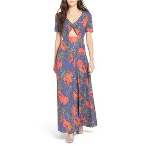 TulaRosa Desi Poppy Floral Maxi Dress